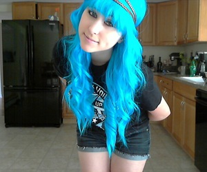 blue hair, girl, and withhopeasananchor image
