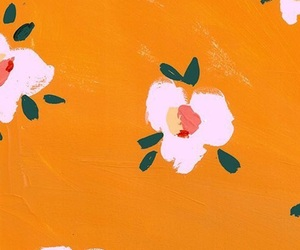 flowers, wallpaper, and orange image