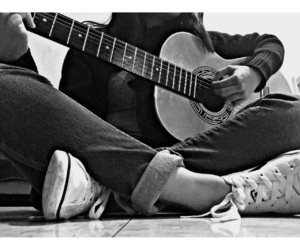 guitar, music, and acustic image