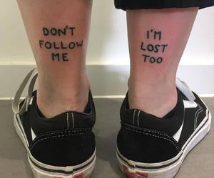 shoes and tattoo image