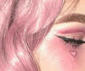 pink, heart, and alternative image
