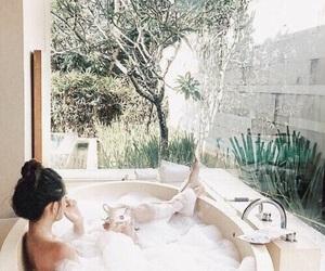 bath, green, and tumblr image