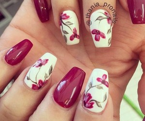 colors, nails, and flowers image