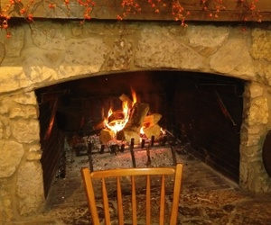 autumn, cozy, and fireplace image