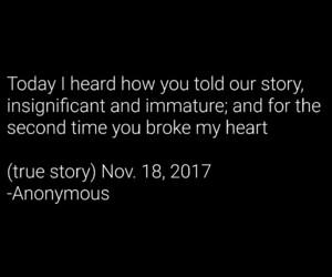anonymous, broke, and broken heart image