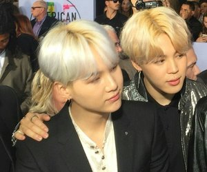 jimin, bts, and yoonmin image
