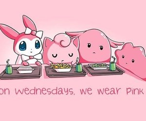 pokemon, pink, and mean girls image