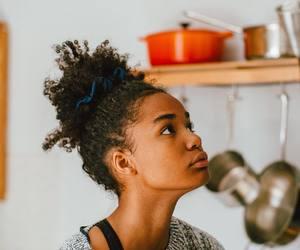 curly hair, natural, and natural hair image