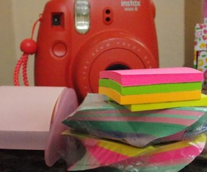 colors, post-it, and raspberry image