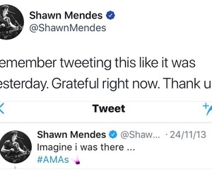 twitter, shawn mendes, and amas image