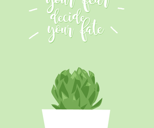 beautiful, green, and quote image