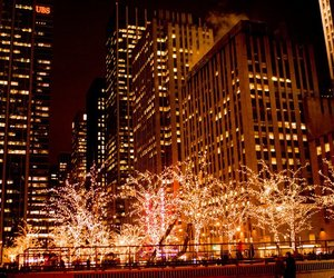 christmas, lights, and new york image