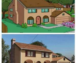 cartoon, house, and lol image