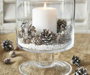 candle, winter, and home image