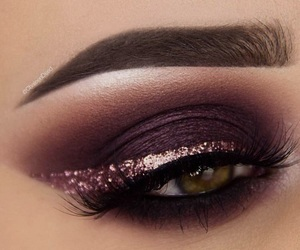 eye, gold, and eye liner image