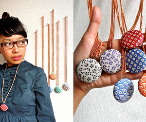 diy, fabric, and necklace image