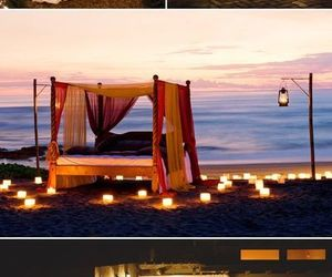 decorations, romantic, and sunset image