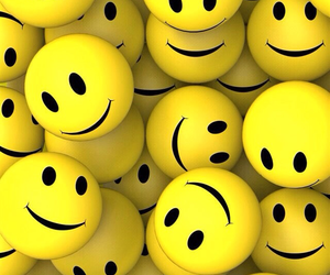 smile, yellow, and wallpaper image