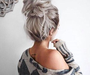 girl, hairstyles, and hair image