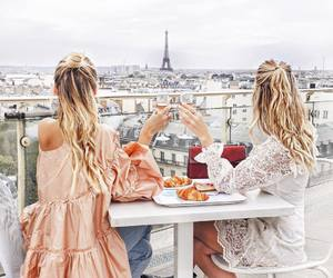 girl, paris, and friendship image
