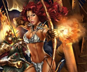 red sonja flaming arrow image