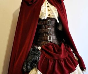 dress, red, and steampunk image