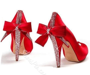 beauty, high heels, and bowknot image