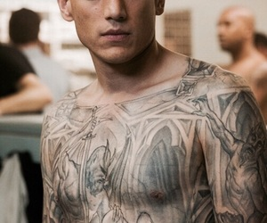 prison break, wentworth miller, and tattoo image