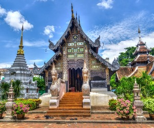 nature, religion, and thailand image