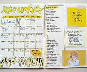 aesthetics, yellow, and bujo image