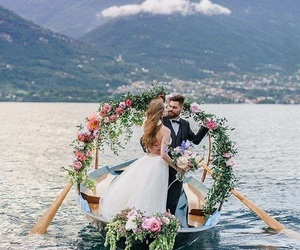 beautiful, bride, and bride and groom image