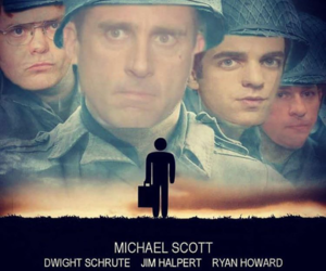 funny, ryan, and michael scott image