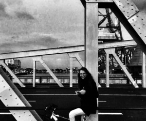 black and white, civil engineering, and steel image