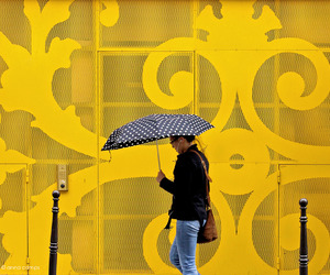 street photography, wall, and yellow image