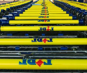 carts, retail, and yellow image