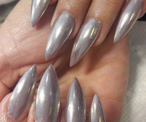 nails, chrome, and silver image