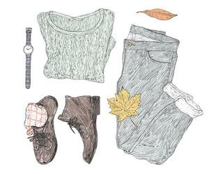 draw, fall, and fashion image