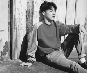 b&w, kim minseok, and exo image