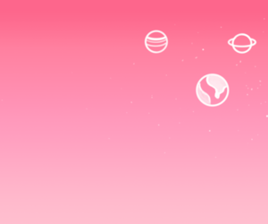 pink, header, and planet image
