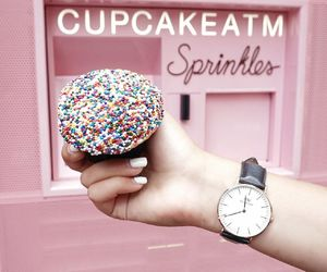 cake, colorful, and watch image