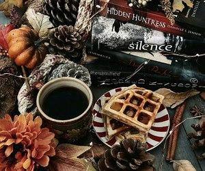 autumm, books, and coffee image