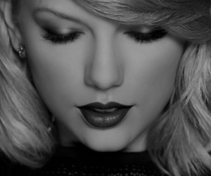 Taylor Swift, black and white, and 1989 image