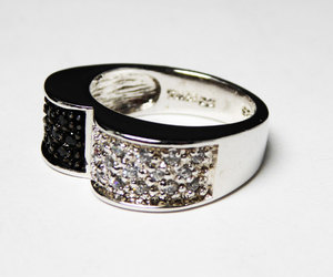 gift for her, black and white, and cubic zirconia image