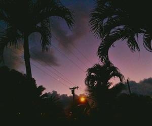sunset, sky, and purple image