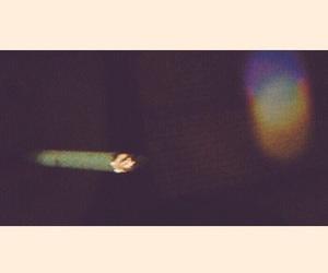 cigarette, night, and smoke image