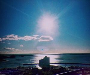 harbor, morning sun, and 朝日 image