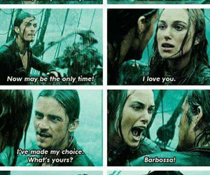 orlando bloom, pirates of the caribbean, and keira knightley image