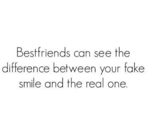 smile, best friends, and quotes image
