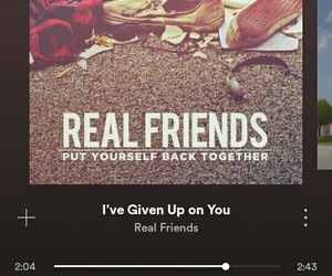 pop punk, i've given up on you, and sad songs image