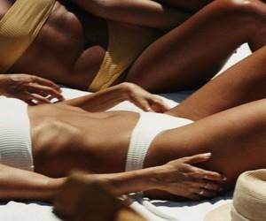 summer, tan, and bikini image